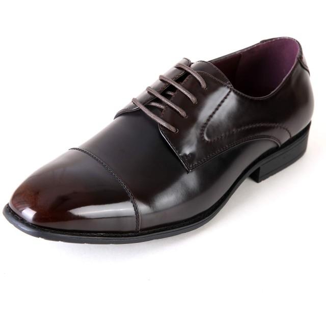 [タキオス] ビジネスシューズ メンズ 革靴 紳士靴 外羽根ストレートチップ 990 ダークブラウン 27.0cm