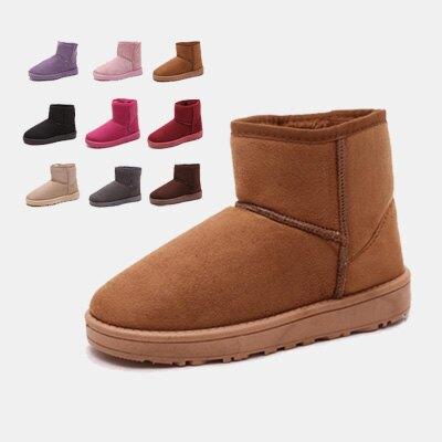 LINAGI里奈子精品【K868-61-75】簡單可愛防滑耐磨舒適百搭保暖短雪靴 多色款