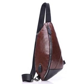 (アーケード) ARCADE バッグで携帯充電 USBポート搭載 ケーブル付 ショルダーバッグ メンズ ボディーバッグ 【Dタイプ】ブラウン
