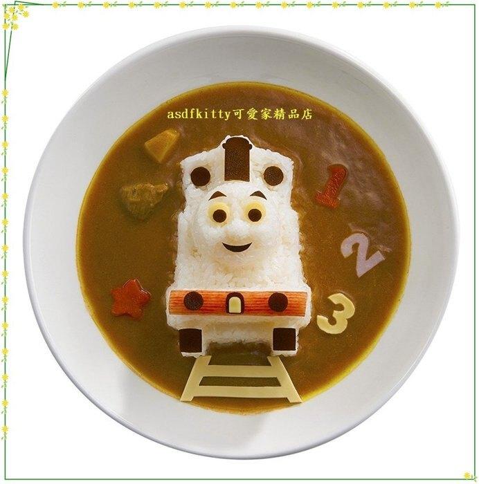 asdfkitty可愛家☆賠錢出清特價 湯瑪士大臉造型半立體飯糰模型含起司壓模-日本製