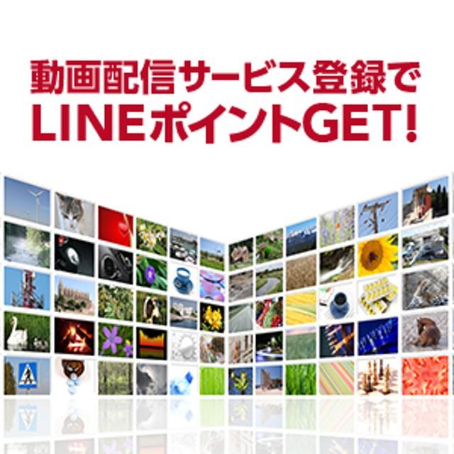 動画配信サービス登録でLINEポイントGET!