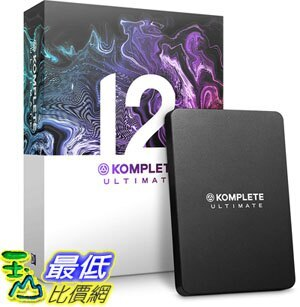 [8美國直購] 暢銷軟體 Native Instruments Komplete 12 Ultimate Update Software Suite B07GY1BDMW
