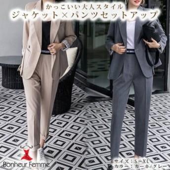 韓国 ファッション レディース セットアップ スーツ カジュアルスーツ セットアップ パンツ ジャケット ツーピース オフィス 通勤
