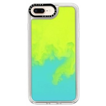 ケースティファイ CASETIFY レディース iPhone (8 Plus)ケース Neon Sand iPhone 7/8 & 7/8 Plus Case Green/Blue