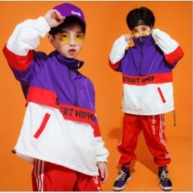 【送料無料】キッズダンス衣装 上下2点セット 男の子 女の子 子供ダンス 団体服 HIPHOP ヒップホップ キッズ 子ども 体操服 練習着 スポ