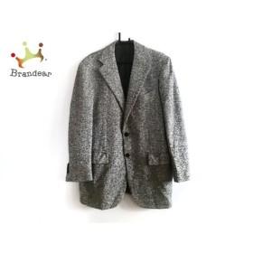 ラヴェラサルトリアナポレターナ ジャケット メンズ 美品 アイボリー×黒 ツイード 新着 20190802