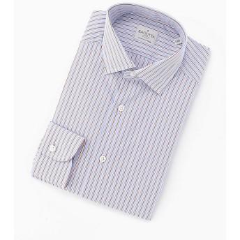 【SALE(三越)】<バグッタ> ポプリンマルチストライプドレスシャツ(91/380_GL/08914-B) 270ベージュネ×ブルー 【三越・伊勢丹/公式】