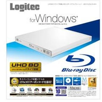 UHDBDドライブ搭載 USB3.0ポータブルブルーレイ ホワイト LBD-PUD6U3LWH