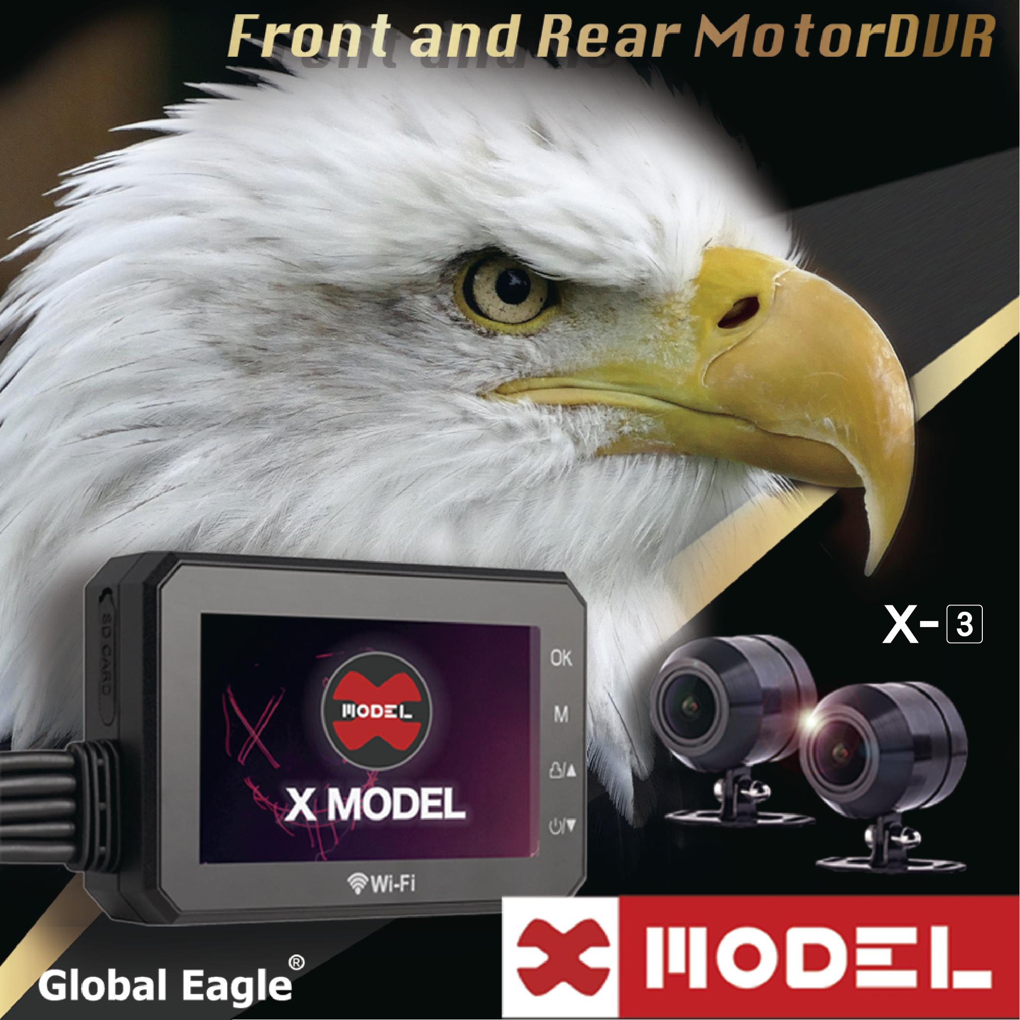 送32G卡【 響尾蛇X3 X-MODEL 】機車用行車記錄器/紀錄器/前後1080P/WIFI/防水防塵/156度廣角/SONY鏡頭/台灣製造/全球鷹/另售X2