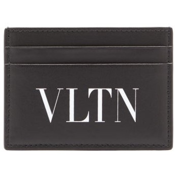 VLTN ロゴプリント レザーカードケース