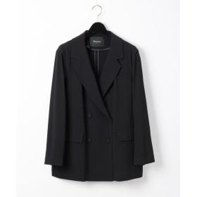 【オンワード】 GRACE CONTINENTAL(グレースコンチネンタル) トリアセダブルジャケット ブラック 36 レディース 【送料無料】