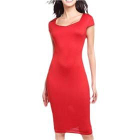 chenshiba-JP 女性の花のプリントbodyconミディドレス半袖鉛筆スリムドレス 10 XL