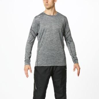 MIZUNO SHOP [ミズノ公式オンラインショップ] Tシャツ(長袖)[ユニセックス] 09 ブラック杢 32MA9630