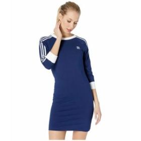 アディダスオリジナルス レディース ワンピース トップス 3-Stripes Dress Dark Blue