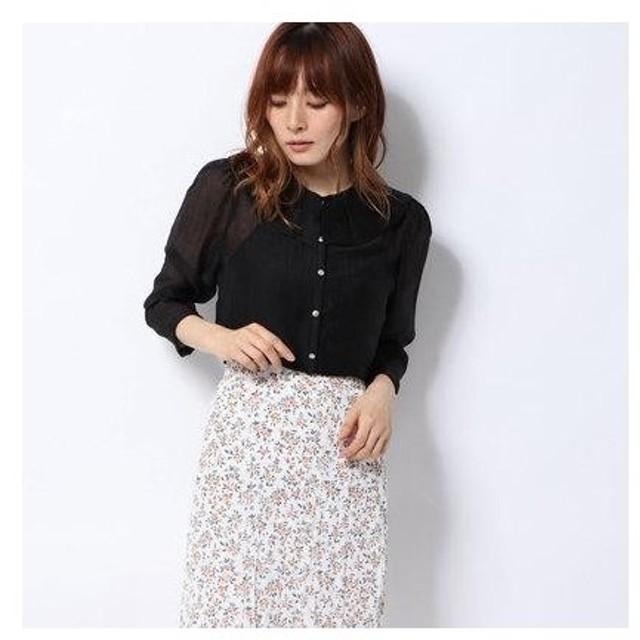 ハニーミーハニー HONEY MI HONEY chiffon short blouse/シフォンショートブラウス (black)