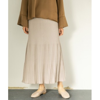 SENSE OF PLACE(センスオブプレイス) スカート スカート ニットプリーツスカート【送料無料】