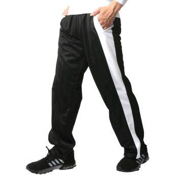 [マルカワジーンズパワージーンズバリュー] ジャージ メンズ 下 トレーニングウェア ロング パンツ ズボン ブラック S