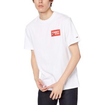 (トミーヒルフィガー) TOMMY HILFIGER リピート ロゴ Tシャツ DM0DM06671 L ホワイト