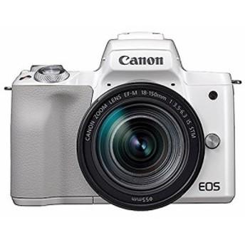 Canon ミラーレス一眼カメラ EOS Kiss M ホワイト レンズキット EF-M18-150(新品未使用の新古品)