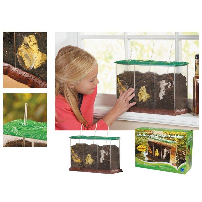 【華森葳兒童教玩具】科學教具系列-堆肥觀察盆 N1-EI-5095