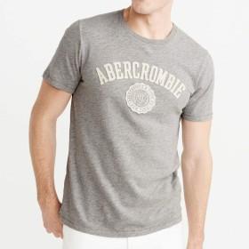 [アバクロ] Abercrombie&Fitch 正規品 メンズ クルーネック ロゴ 半袖Tシャツ APPLIQUE LOGO TEE 123-238-2395-120 S 並行輸入品 (コード:4132720202-2)