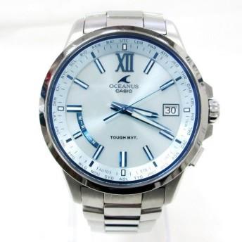 カシオ オシアナス OCW-T150-2AJF 電波ソーラー ライトブルー文字盤 時計 腕時計 メンズ 【中古】【あすつく】