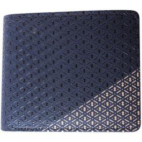 印傳屋 印伝 IORI 庵(いほり) 8214 メンズ 札入れ 二つ折り財布 和風 和柄 日本製 ギフトに。 (iori-8214)