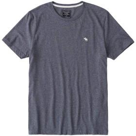 [Abercrombie & Fitch(アバクロンビーアンドフィッチ)] アバクロ メンズ 半袖 Tシャツ MOOSE刺繍 ヘザーネイビー Sサイズ [並行輸入品]