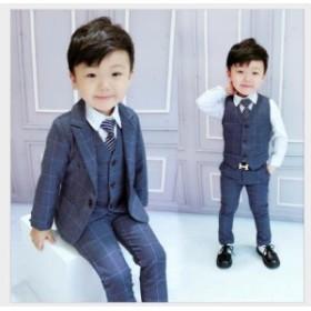 フォーマルスーツ 男の子スーツ キッズ 子供3点セット 上下セット タキシードスーツ ジュニア 入学式 入園式 卒業式 七五三 結婚式 発表
