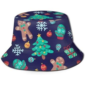 Cute Christmas Biscuitバケットハット ハット 帽子 紫外線対策 サファリハット カジュアル スポーツ メンズ レディース プレゼント UVカット つば広 おしゃれ 可愛い 日よけ 夏季 小顔効果