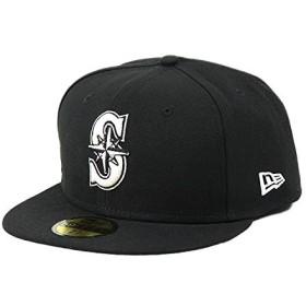 ニューエラ キャップ メンズ 59FIFTY New Era BLACK&WHITE 帽子 ブラック&ホワイト シアトル・マリナーズ 白・黒 MLB メジャーリーグベースボール [並行輸入品]