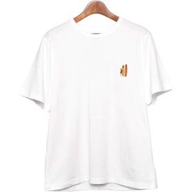 [インクルーシブ]IN'CREWSIVE 半袖Tシャツ 6.5オンス コットン ワンポイント刺繍Tシャツ IN-1114S メンズ アパレル 05.ホワイトドリーム XXL(3L)