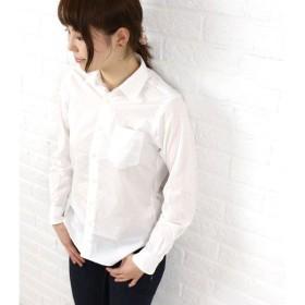 unus entil(ユーナスエンティル) コットン長袖 レギュラーカラーシャツ・URN06024-0021402・レディース