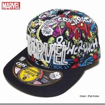 キャップ 帽子 ファッション小物 メンズファッション MARVEL マーベル ボリュームある 厚盛り ロゴ刺繍 コミック 総柄 スパイダーマン