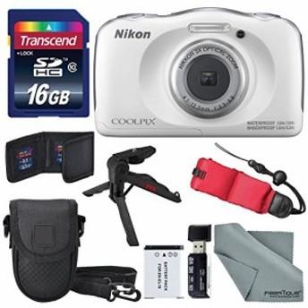 NikonデジタルカメラCoolpix w100(ホワイト)基本的なバンドルwithフローテ(新品未使用の新古品)