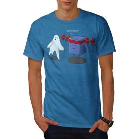 Wellcoda 幽霊 立方体 トレーニング 男性用 ロイヤルブルー L Tシャツ