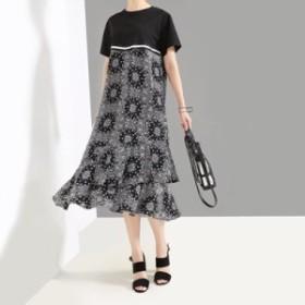 レディース ワンピース 『お得』 半袖 花柄 プリント ワンピース 大きいサイズ 大人カジュアル 30代 40代 50代 ファッション