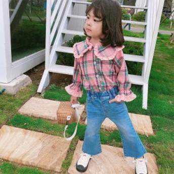 韓国子供服 シャツ 女の子 新作 ファッション プリンセス プリント柄スウィート 可愛い 結婚式 二次会 ダンス発表会 発表会 普段着 旅行