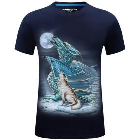 男の子 トップス Meilaifushi tシャツ メンズ 半袖 カットソー 五分袖 快適な 無地 軽い 大きいサイズ ゆったり ファッション かっこいい カジュアル シンプル 夏 秋 綿