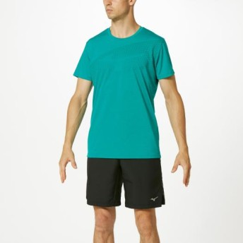 MIZUNO SHOP [ミズノ公式オンラインショップ] ロゴTシャツ[メンズ] 32 ブルーグラス 32MA9512