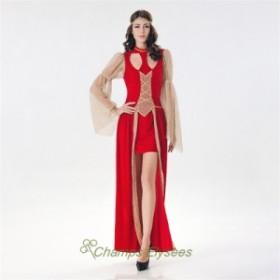 ハロウィン ワンピース  コスチューム ギリシャ 女神 アラビア 変装 大人用  コスプレ 仮装 パーティー用  レディース  スリット ヨーロ
