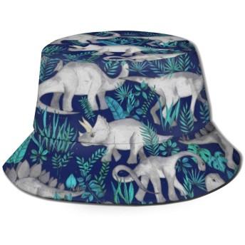 Dinosaursバケットハット ハット 帽子 紫外線対策 サファリハット カジュアル スポーツ メンズ レディース プレゼント UVカット つば広 おしゃれ 可愛い 日よけ 夏季 小顔効果