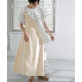 【URBAN RESEARCH:ワンピース】WEB限定 ワンショルダーサロペットスカート