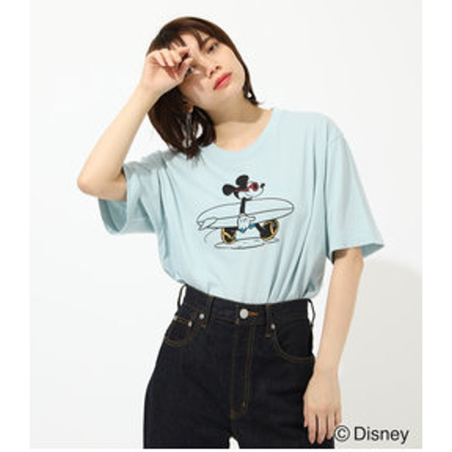 【AZUL by moussy:トップス】SURF MICKEY TEE