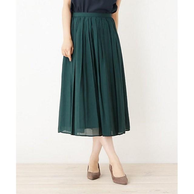 【SALE(三越)】<SOUP> INNOWAVE シルキーローンギャザースカート(2001579546) グリーン【三越・伊勢丹/公式】