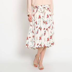 AG by aquagirl エージーバイアクアガール リボンベルト付き花柄スカート
