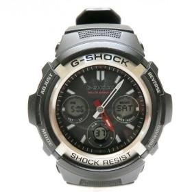 時計 CASIO カシオ G-SHOCK ジーショック SHOCK RESIST AWG-M100 電波ソーラー デジタル アナログ ブラック 【中古】【あすつく】