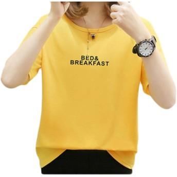 Beeatree 花のファッション・トップ・プラスサイズのヒットカラーのすべての試合のタンクトップの女性 Yellow L