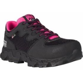 ティンバーランド Timberland レディース シューズ・靴 PRO PowerTrain Alloy Toe Work Shoes Black/Pink