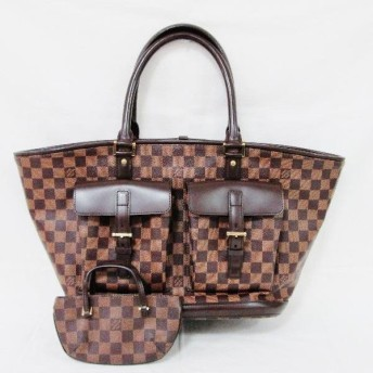 ルイヴィトン Louis Vuitton ダミエ マノスクGM N51120 バッグ 【中古】【あすつく】